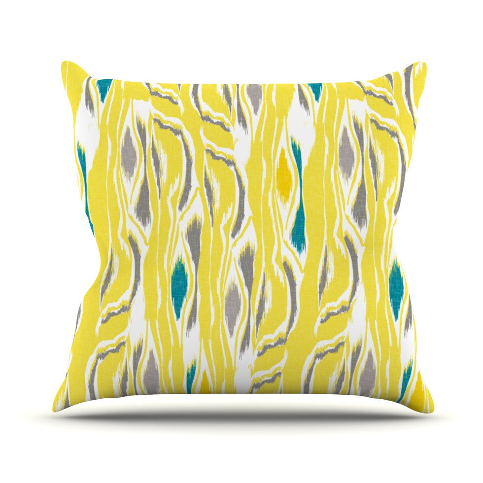 "Gill Eggleston ""Barengo Sunshine"" Outdoor Throw Pillow - KESS InHouse  - 1"