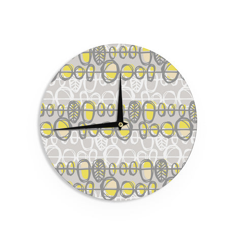 "Gill Eggleston ""Benin Yellow Grey"" Wall Clock - Outlet Item"