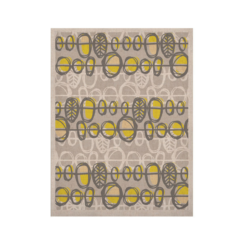 "Gill Eggleston ""Benin Yellow Grey"" KESS Naturals Canvas (Frame not Included) - KESS InHouse  - 1"
