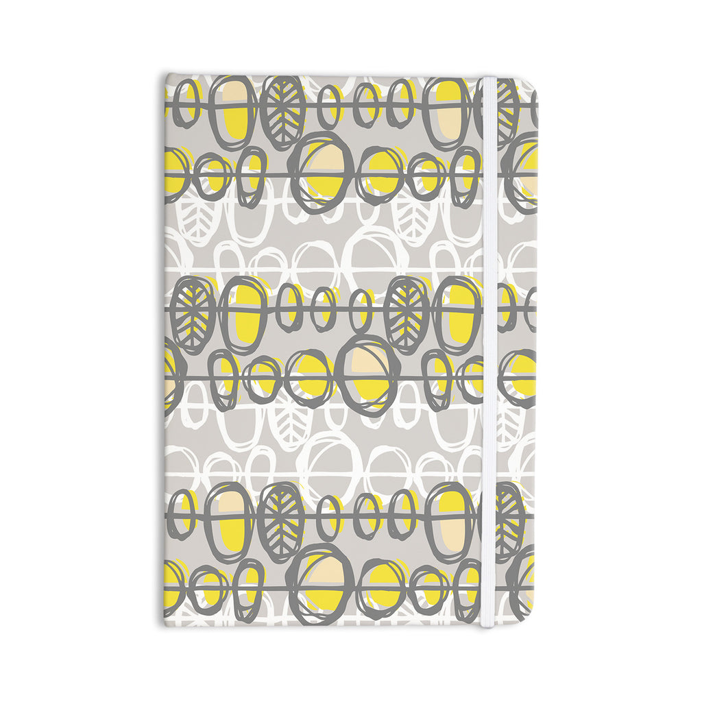 "Gill Eggleston ""Benin Yellow Grey"" Everything Notebook - KESS InHouse  - 1"
