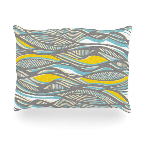 "Gill Eggleston ""Drift"" Oblong Pillow - KESS InHouse"