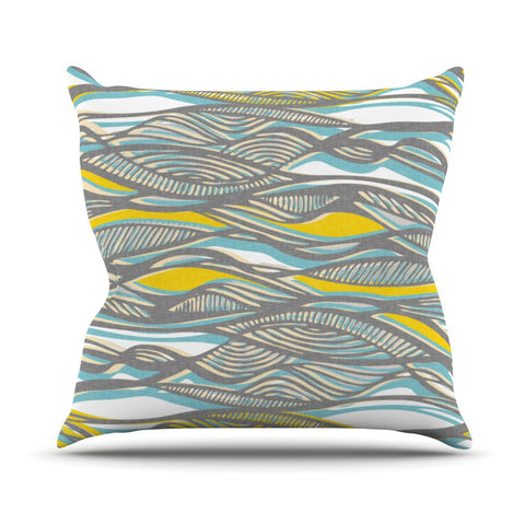 "Gill Eggleston ""Drift"" Outdoor Throw Pillow - KESS InHouse  - 1"