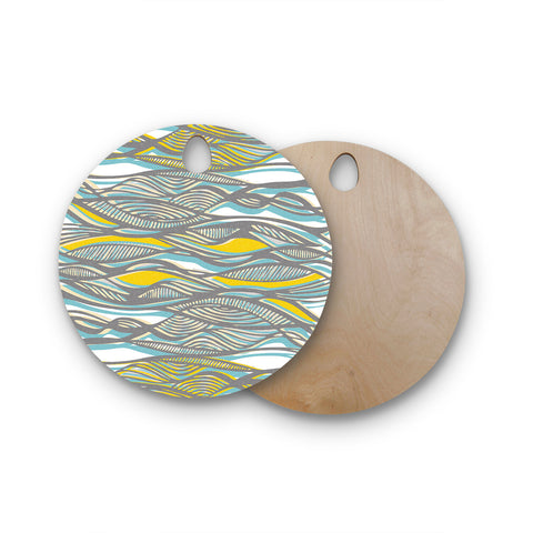 "Gill Eggleston ""Drift"" Round Wooden Cutting Board"