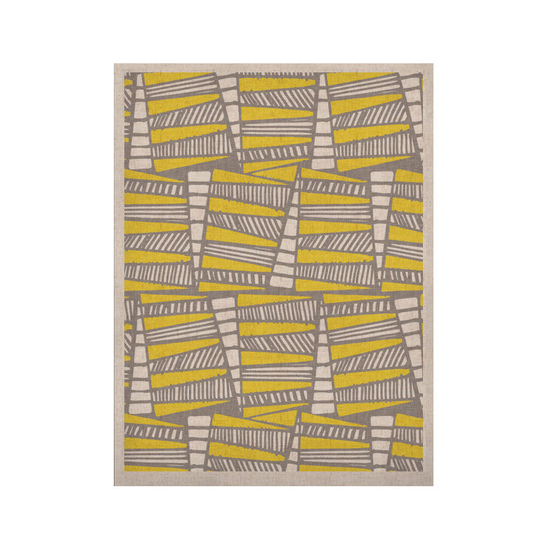"Gill Eggleston ""Jaggi Yellow Grey"" KESS Naturals Canvas (Frame not Included) - KESS InHouse  - 1"