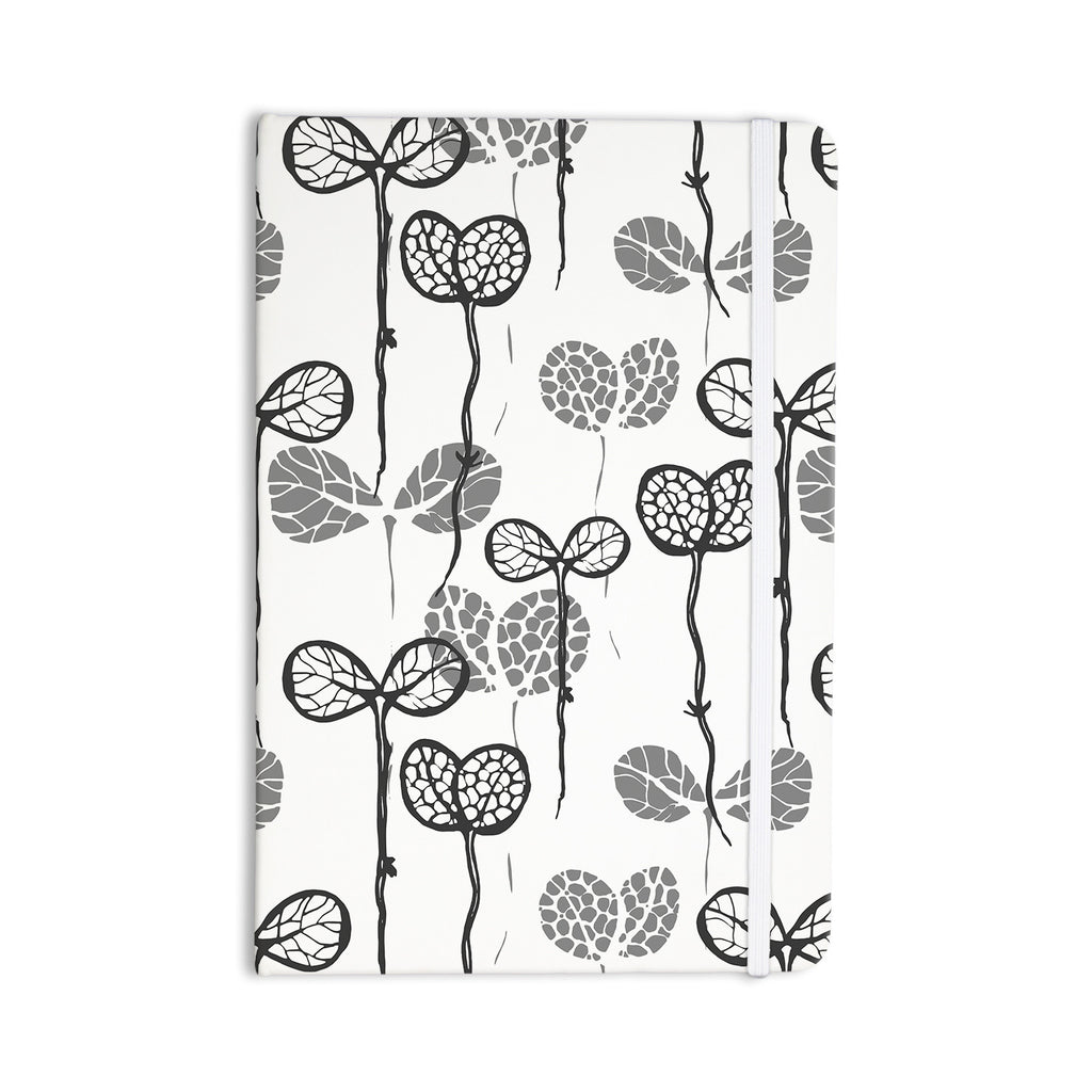 "Gill Eggleston ""Seedlings of Change"" White Gray Everything Notebook - KESS InHouse  - 1"
