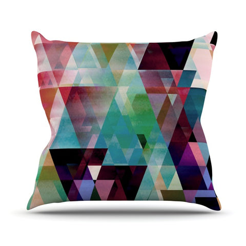 "Gabriela Fuente ""Splash"" Outdoor Throw Pillow - Outlet Item"
