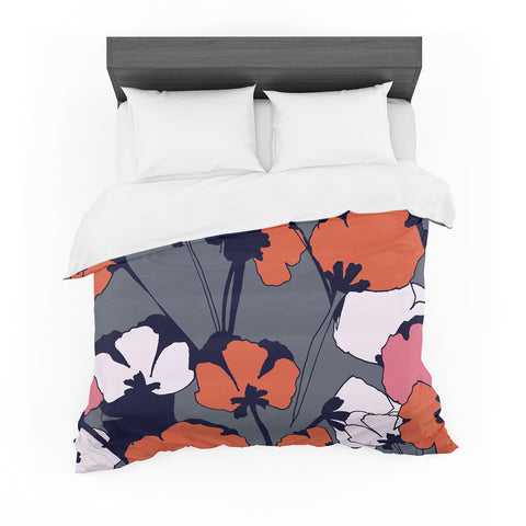 "Gabriela Fuente ""Pop Flowers""  Featherweight Duvet Cover - Outlet Item"