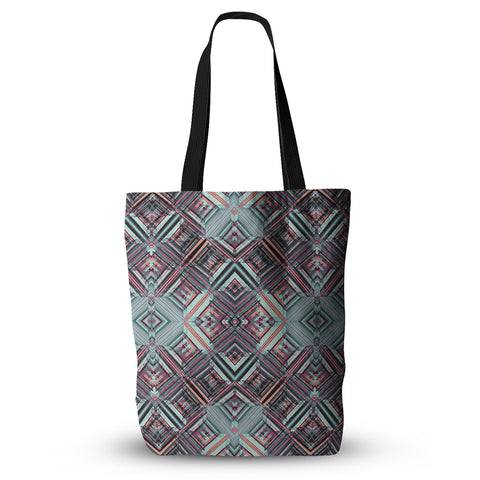 "Gabriela Fuente ""Watercolor Caledoscope"" Purple Teal Everything Tote Bag - Outlet Item"