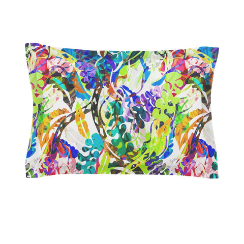 "Gabriela Fuente ""Flow"" Rainbow Floral Pillow Sham - Outlet Item"