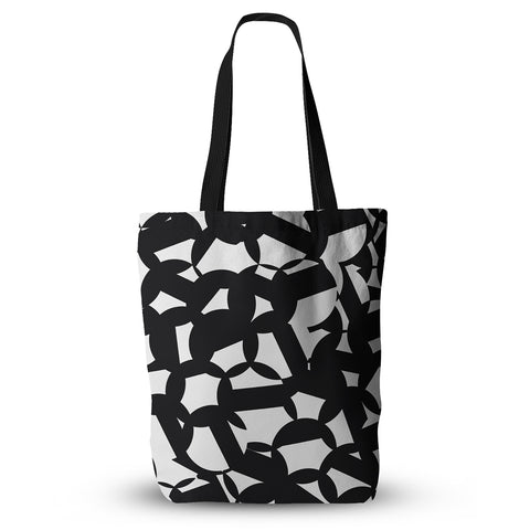 "Gabriela Fuente ""Geo Chic"" Black White Everything Tote Bag - Outlet Item"