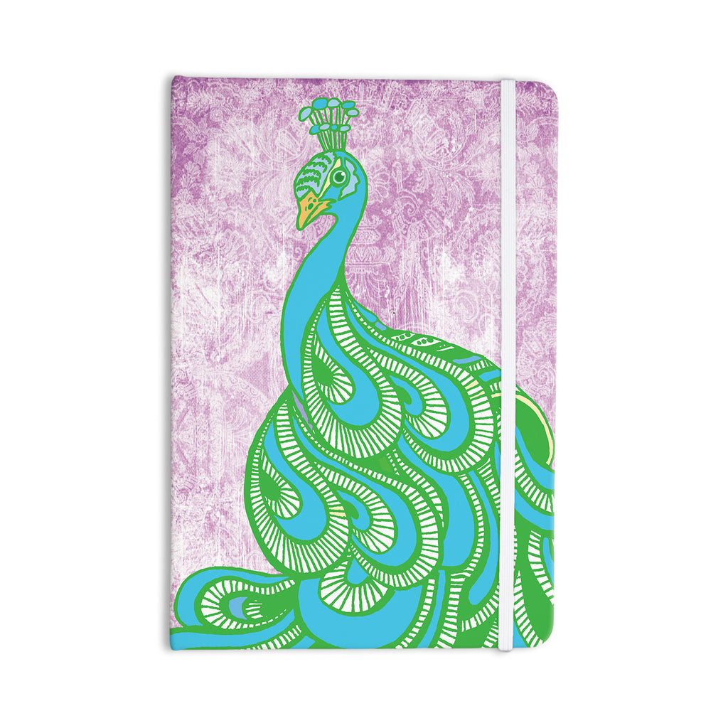 "Geordanna Cordero-Fields ""Beauty in Waiting"" Green Pink Everything Notebook - KESS InHouse  - 1"