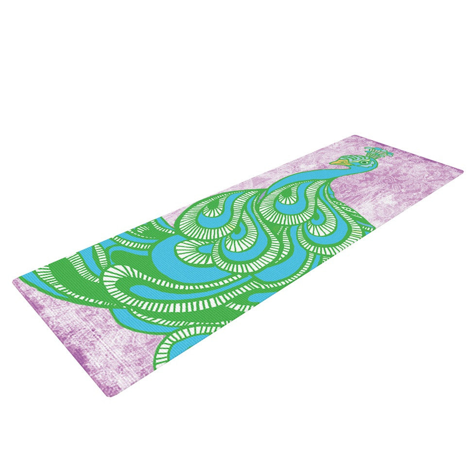 "Geordanna Cordero-Fields ""Beauty in Waiting"" Green Pink Yoga Mat - KESS InHouse  - 1"