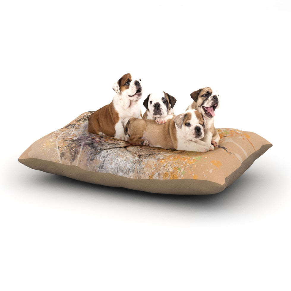 "Geordanna Cordero-Fields ""My Tiger"" Orange Tan Dog Bed - KESS InHouse  - 1"