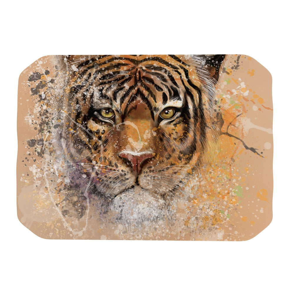 "Geordanna Cordero-Fields ""My Tiger"" Orange Tan Place Mat - KESS InHouse"