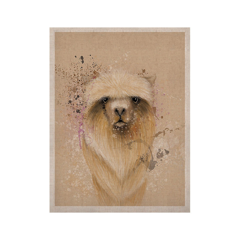 "Geordanna Cordero-Fields ""Llama Me"" Tan KESS Naturals Canvas (Frame not Included) - KESS InHouse  - 1"