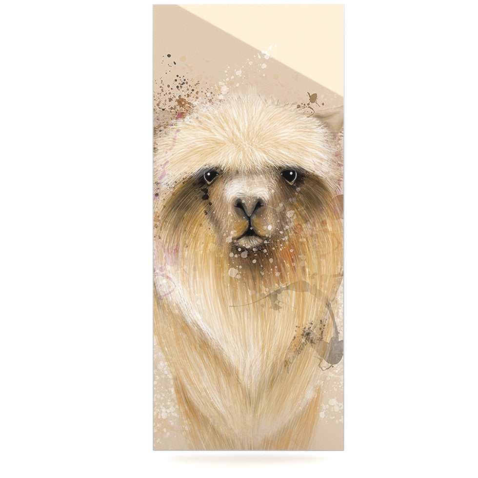 "Geordanna Cordero-Fields ""Llama Me"" Tan Luxe Rectangle Panel - KESS InHouse  - 1"