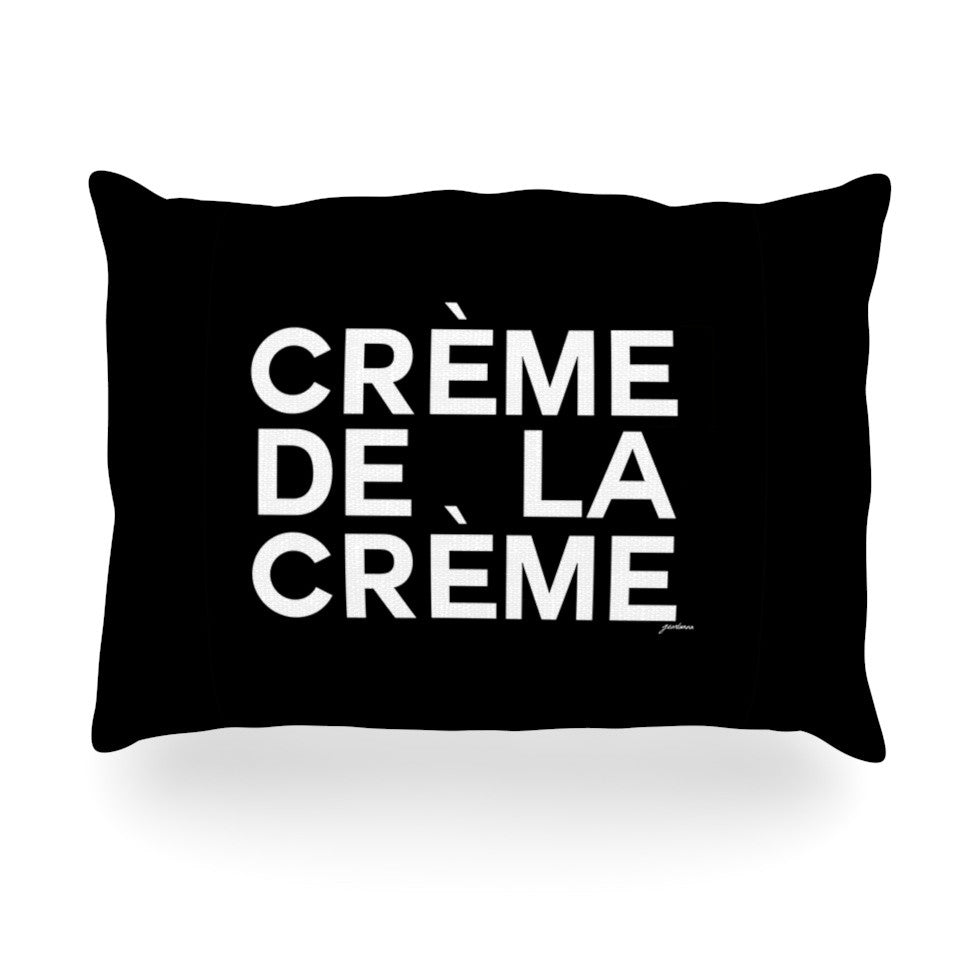 "Geordanna Cordero-Fields ""Creme De La Creme"" Black White Oblong Pillow - KESS InHouse"
