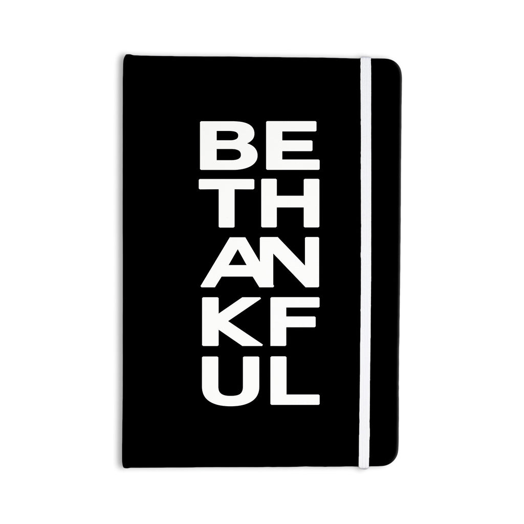 "Geordanna Cordero-Fields ""Be Thankful"" White Black Everything Notebook - KESS InHouse  - 1"