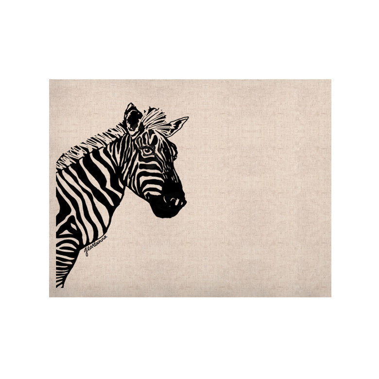 "Geordanna Cordero-Fields ""My Zebra Head"" Black White KESS Naturals Canvas (Frame not Included) - KESS InHouse  - 1"
