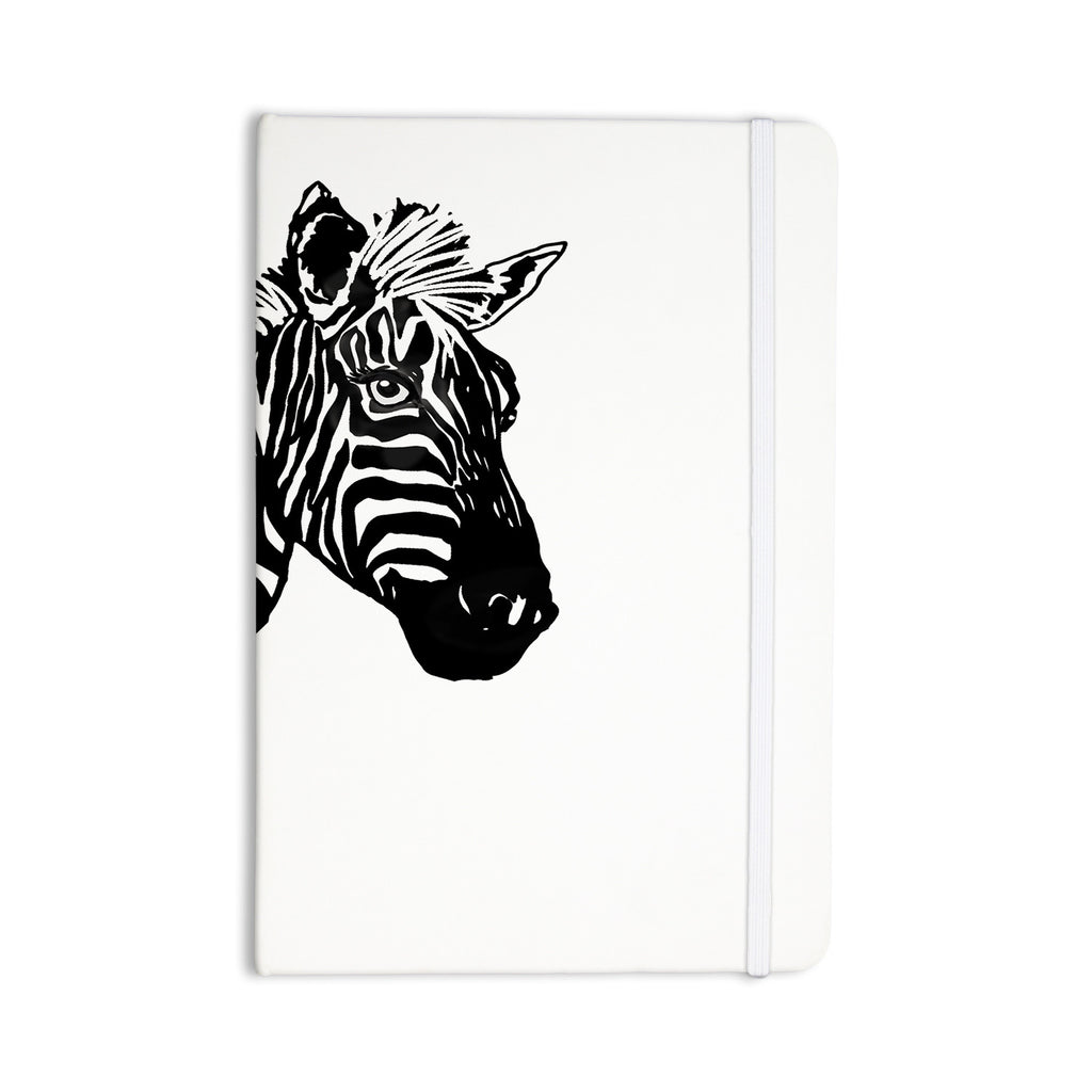 "Geordanna Cordero-Fields ""My Zebra Head"" Black White Everything Notebook - KESS InHouse  - 1"