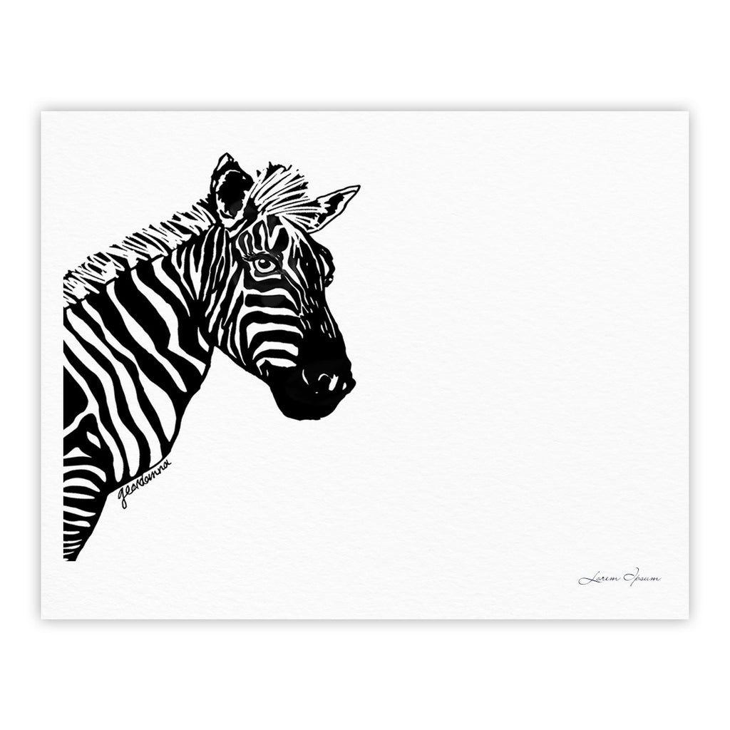 "Geordanna Cordero-Fields ""My Zebra Head"" Black White Fine Art Gallery Print - KESS InHouse"