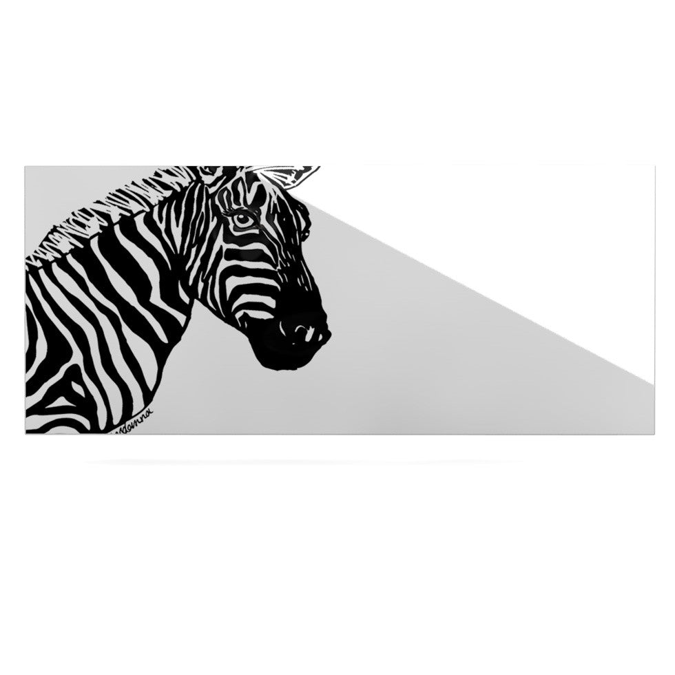 "Geordanna Cordero-Fields ""My Zebra Head"" Black White Luxe Rectangle Panel - KESS InHouse  - 1"