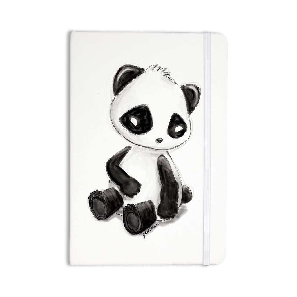 "Geordanna Cordero-Fields ""My Panda Sketch"" Black White Everything Notebook - KESS InHouse  - 1"