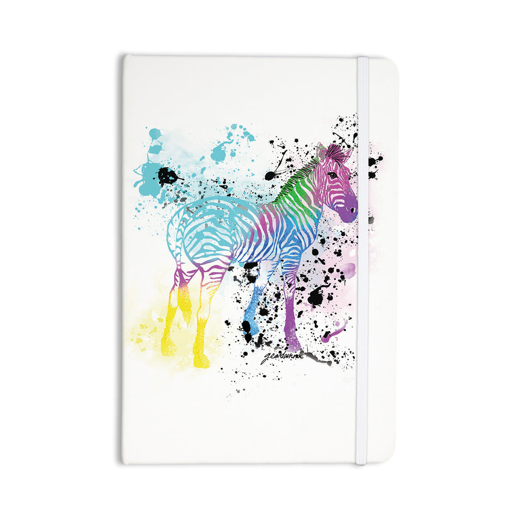 "Geordanna Cordero-Fields ""My Zebra"" White Rainbow Everything Notebook - KESS InHouse  - 1"