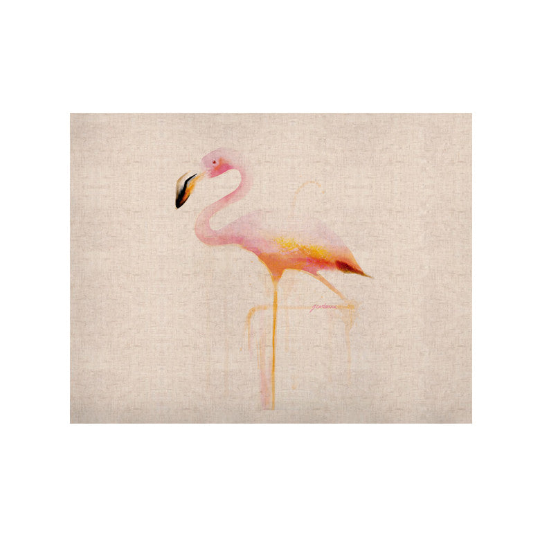 "Geordanna Cordero-Fields ""My Flamingo"" Pink White KESS Naturals Canvas (Frame not Included) - KESS InHouse  - 1"