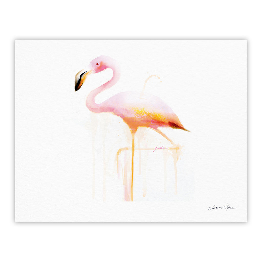 "Geordanna Cordero-Fields ""My Flamingo"" Pink White Fine Art Gallery Print - KESS InHouse"