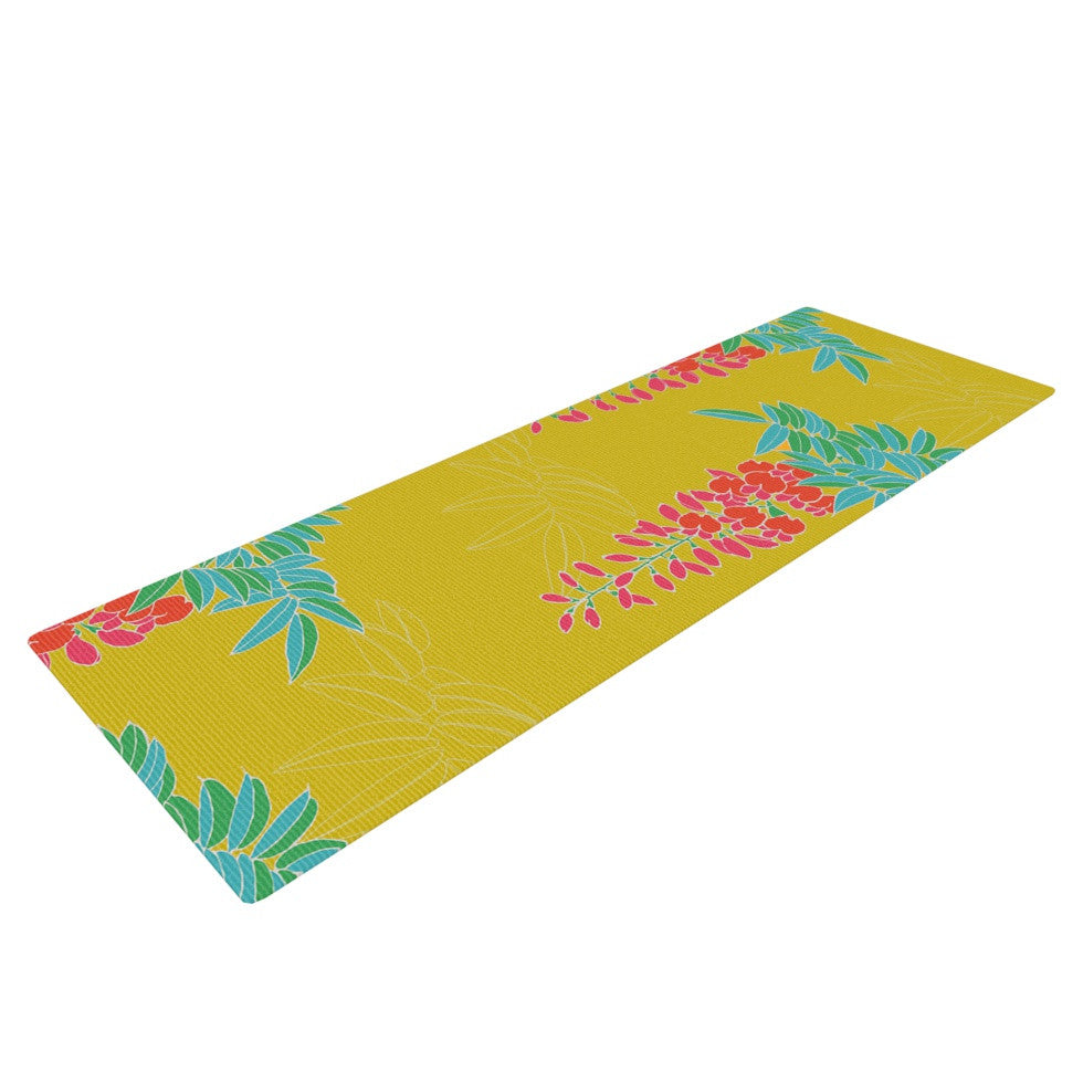 "Gukuuki ""Ipanema"" Yellow Yoga Mat - KESS InHouse  - 1"