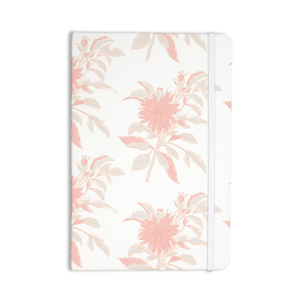 "Gukuuki ""Pastel Fluers"" Pink White Everything Notebook - KESS InHouse  - 1"