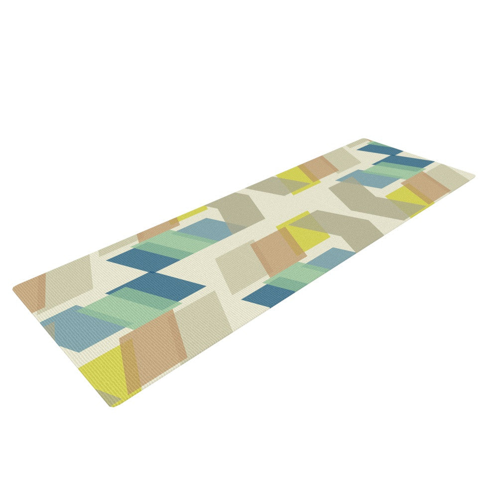 "Gukuuki ""Kobob Chevron"" Geometric Brown Yoga Mat - KESS InHouse  - 1"