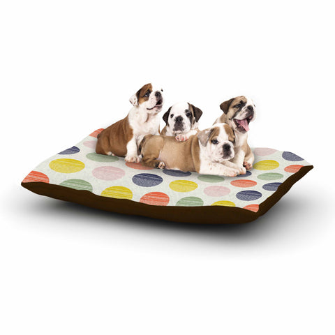 "Gukuuki ""Rainbow Dots"" Multicolor Vector Dog Bed - Outlet Item"