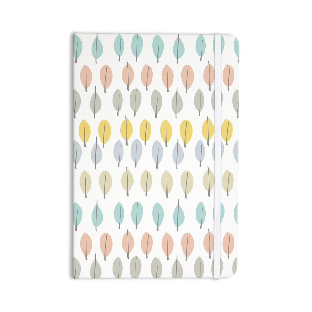 "Gukuuki ""Simple Leaves"" Multicolor Nature Everything Notebook - KESS InHouse  - 1"