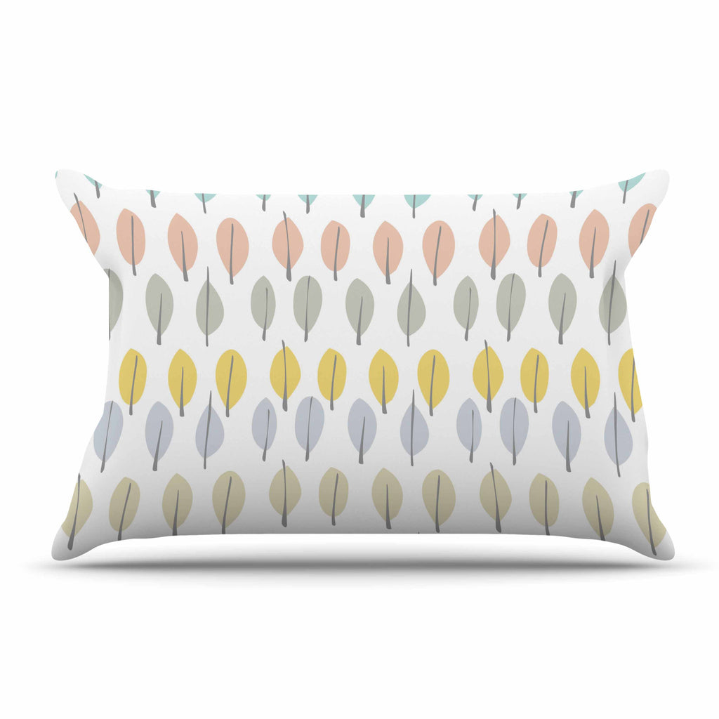 "Gukuuki ""Simple Leaves"" Multicolor Nature Pillow Sham - KESS InHouse"