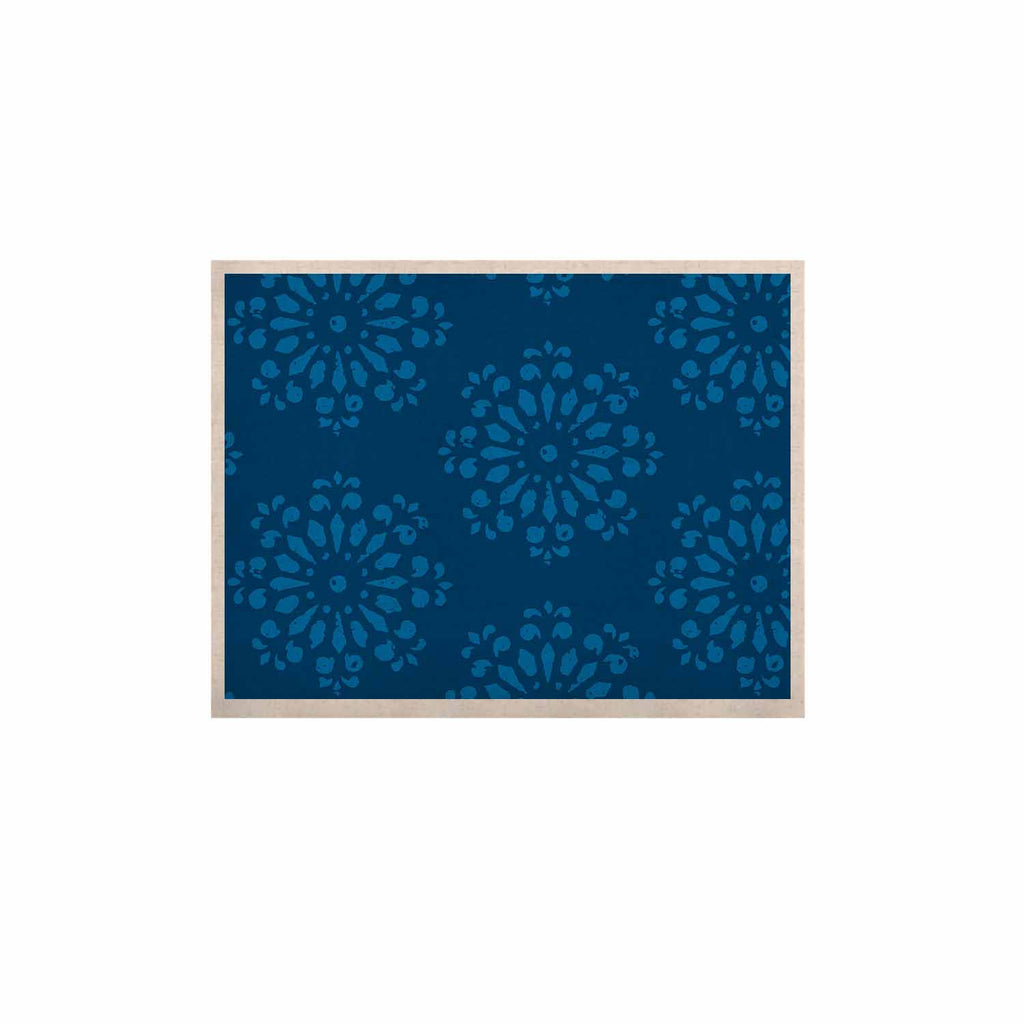 "Gukuuki ""Blue Taylor"" Navy Damask KESS Naturals Canvas (Frame not Included) - KESS InHouse  - 1"