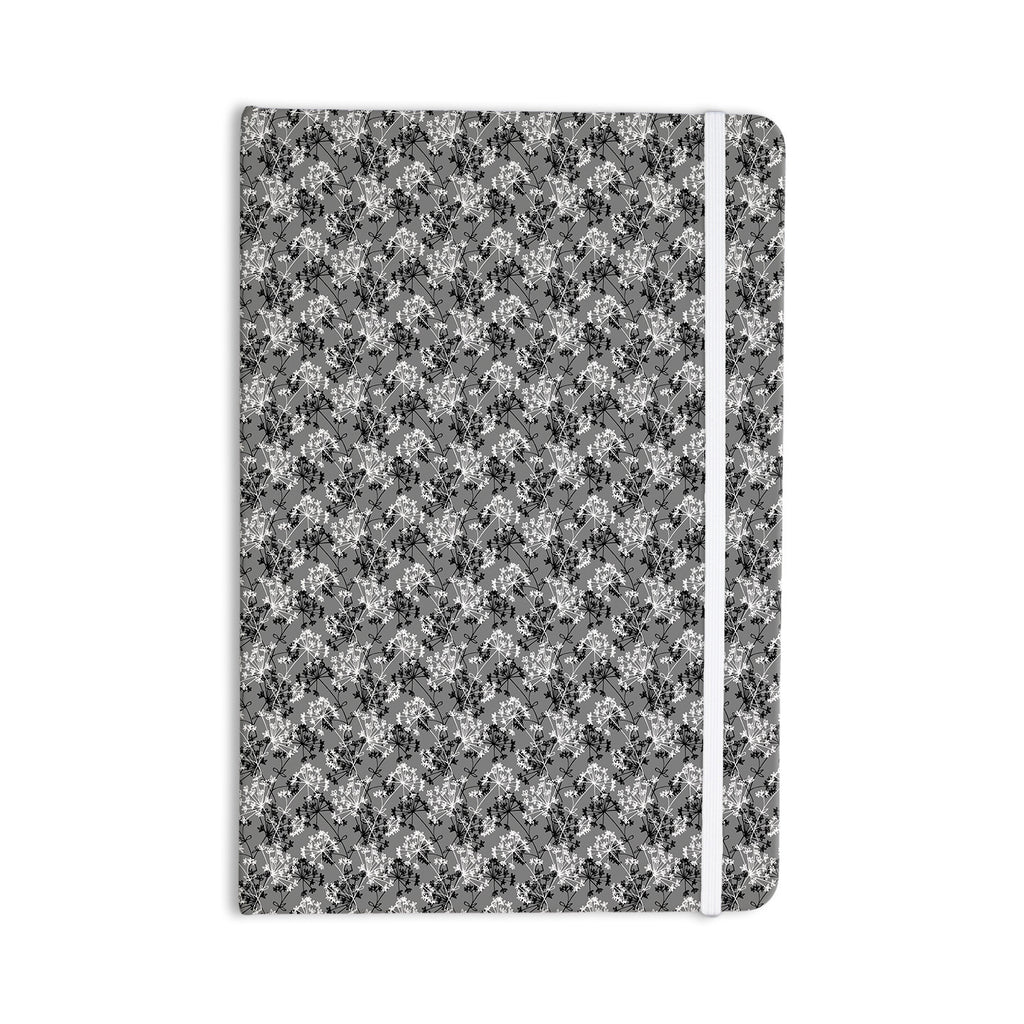 "Holly Helgeson ""Dandy"" Grey Floral Everything Notebook - KESS InHouse  - 1"