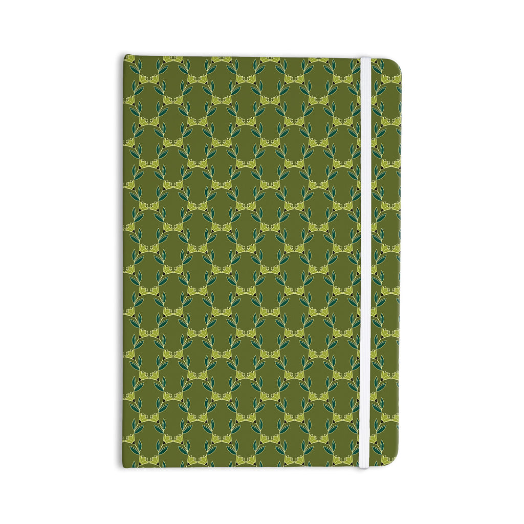 "Holly Helgeson ""Flora Vine"" Olive Green Everything Notebook - KESS InHouse  - 1"