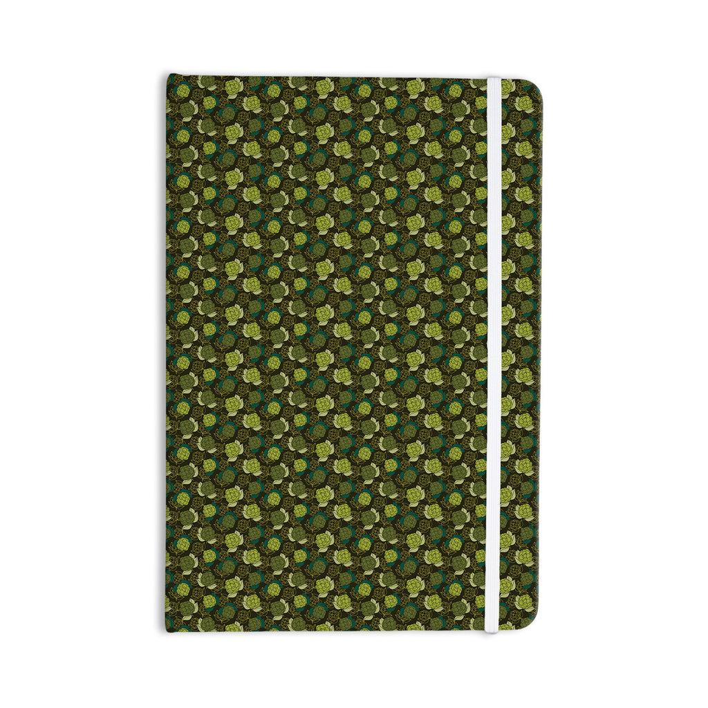 "Holly Helgeson ""Camillia Dark"" Forest Green Everything Notebook - KESS InHouse  - 1"