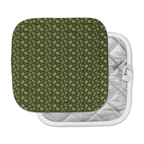 "Holly Helgeson ""Camillia Dark"" Forest Green Pot Holder"