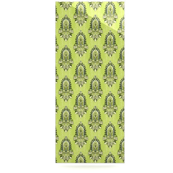 "Holly Helgeson ""Deco Flourish"" Green Pattern Luxe Rectangle Panel - KESS InHouse  - 1"