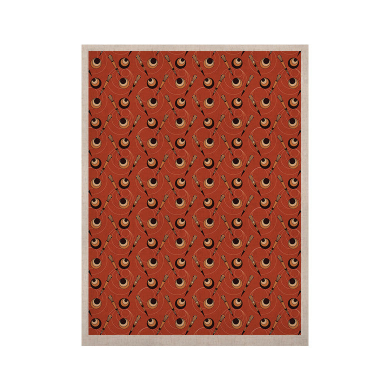 "Holly Helgeson ""Deco Arrows"" Red Pattern KESS Naturals Canvas (Frame not Included) - KESS InHouse  - 1"