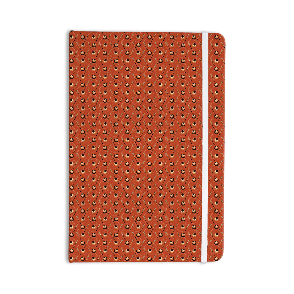 "Holly Helgeson ""Deco Arrows"" Red Pattern Everything Notebook - KESS InHouse  - 1"