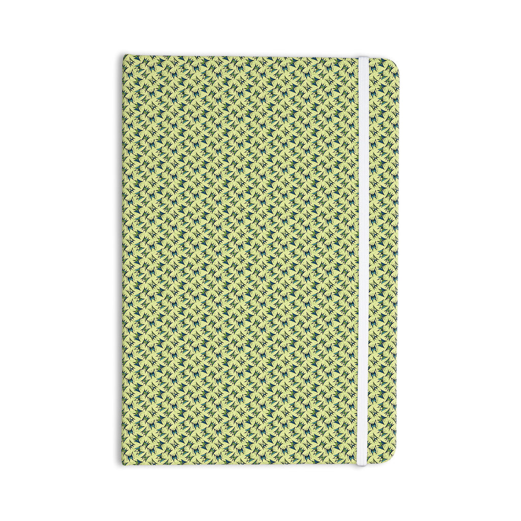 "Holly Helgeson ""Flutterby"" Yellow Lime Everything Notebook - KESS InHouse  - 1"