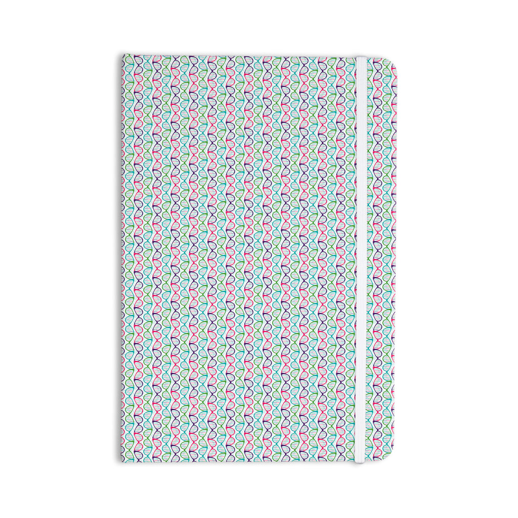 "Holly Helgeson ""Geeky DNA"" Pink Blue Everything Notebook - KESS InHouse  - 1"