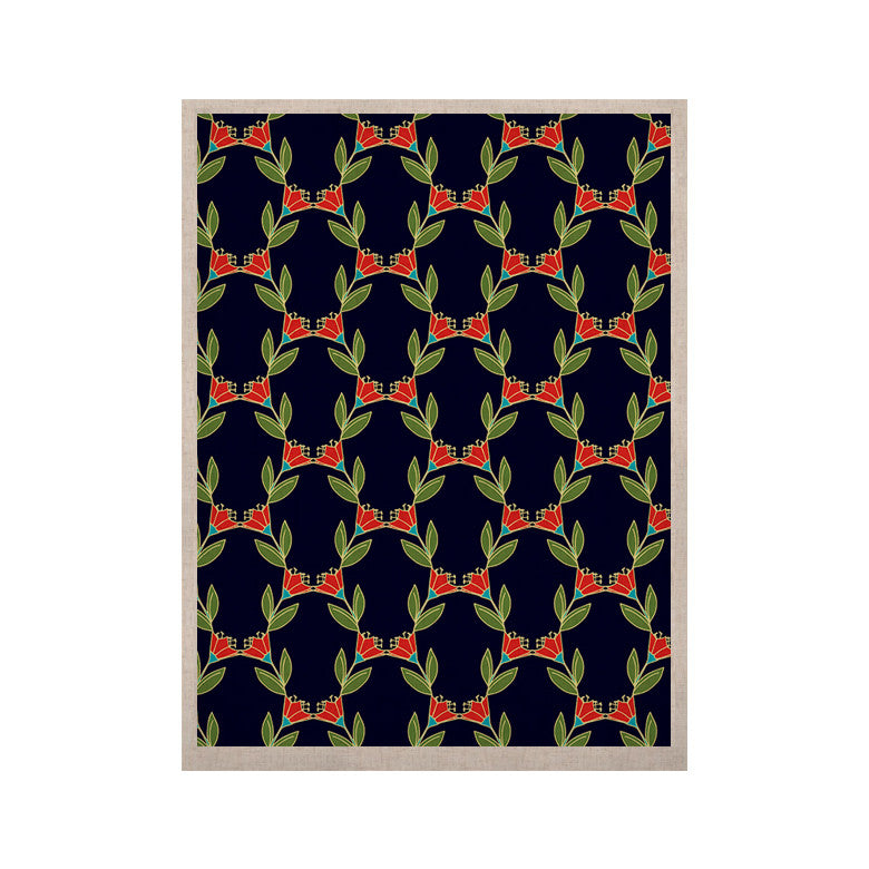 "Holly Helgeson ""Midnight Vine"" Black Pattern KESS Naturals Canvas (Frame not Included) - KESS InHouse  - 1"