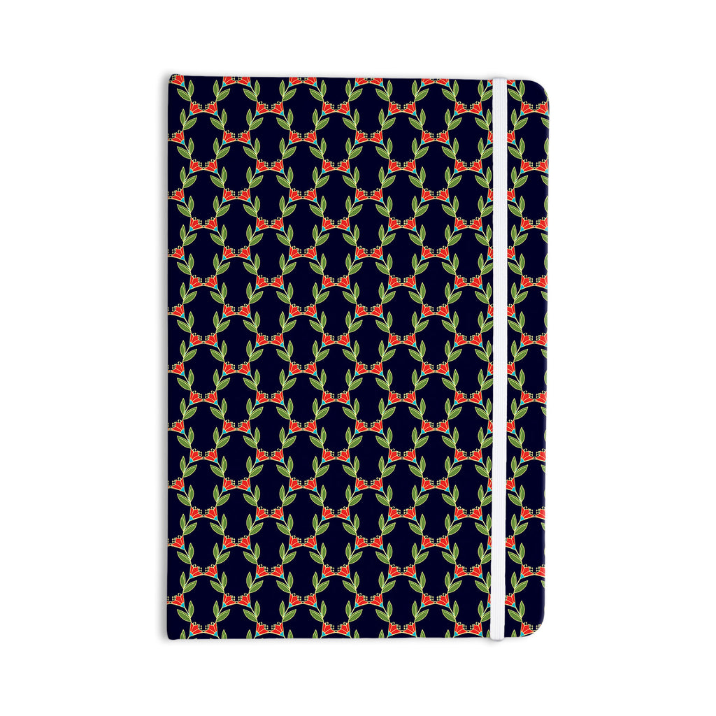 "Holly Helgeson ""Midnight Vine"" Black Pattern Everything Notebook - KESS InHouse  - 1"