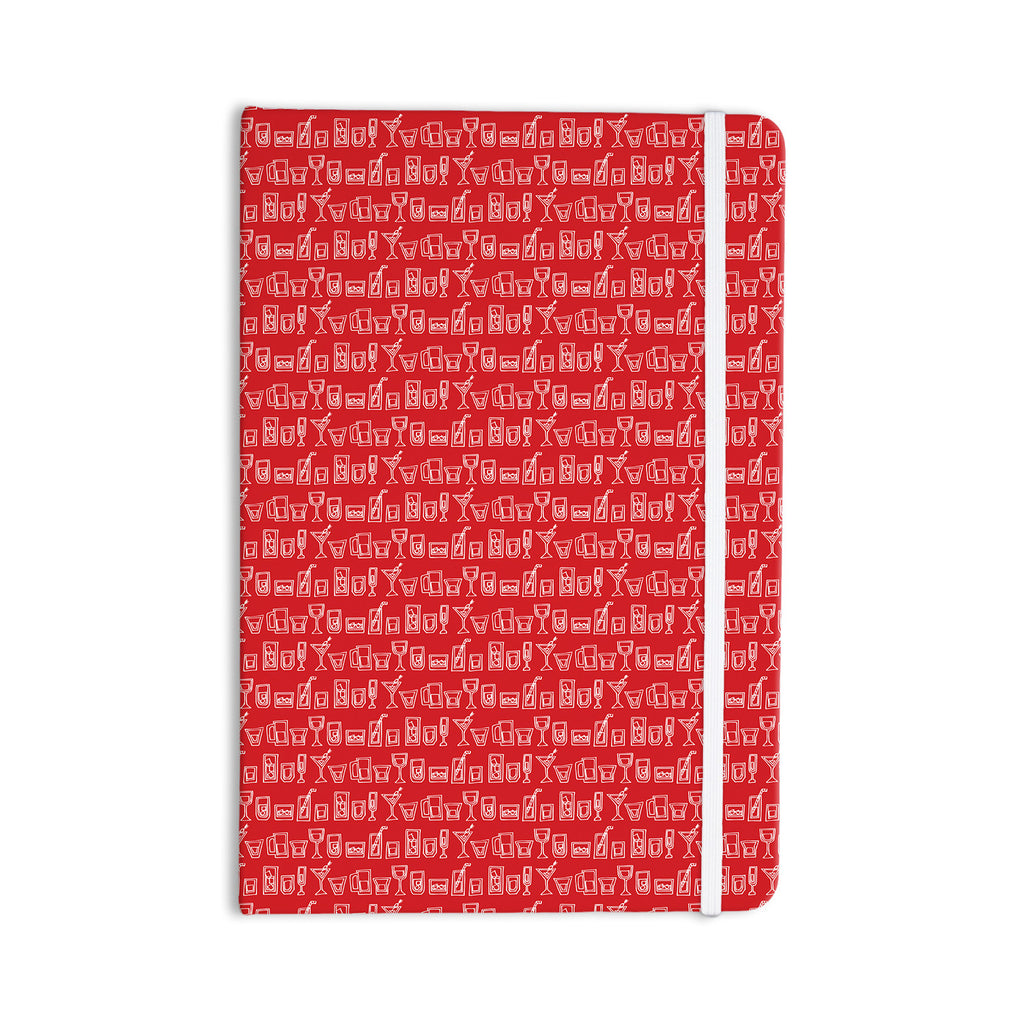 "Holly Helgeson ""Glass Half-Full"" Red White Everything Notebook - KESS InHouse  - 1"