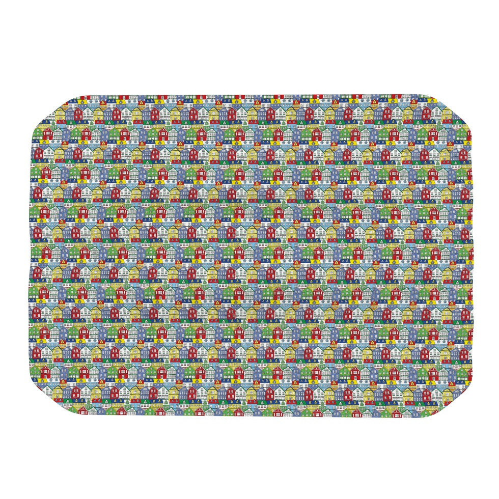 "Holly Helgeson ""Reykjavik"" Rainbow Pattern Place Mat - KESS InHouse"